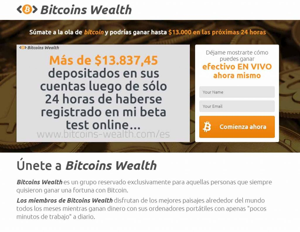 Ejemplo: Bitcoins Wealth