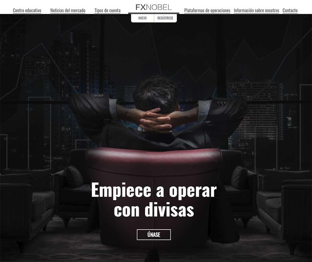 Página web de FXNOBEL