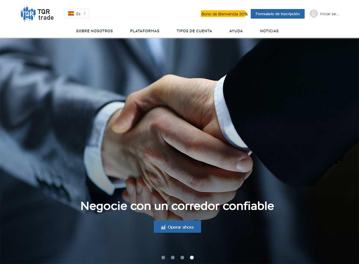 Página web de TQR Trade