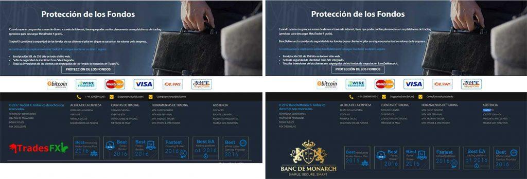 Parecidos entre TradesFX y Banc de Monarch
