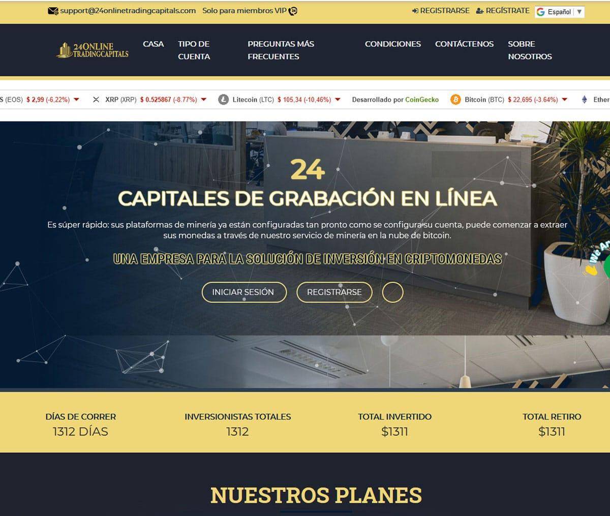 Página web de 24onlinetradingcapitals