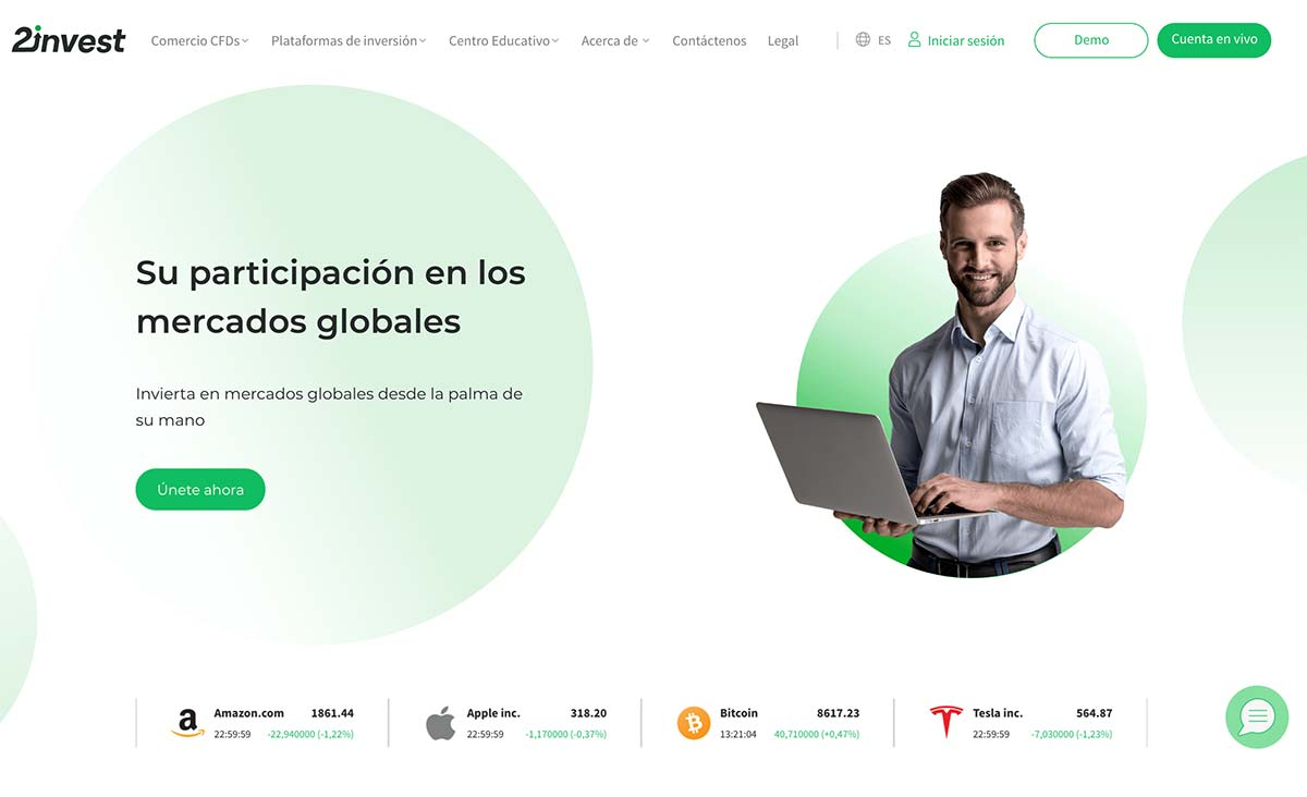 Página web de 2invest