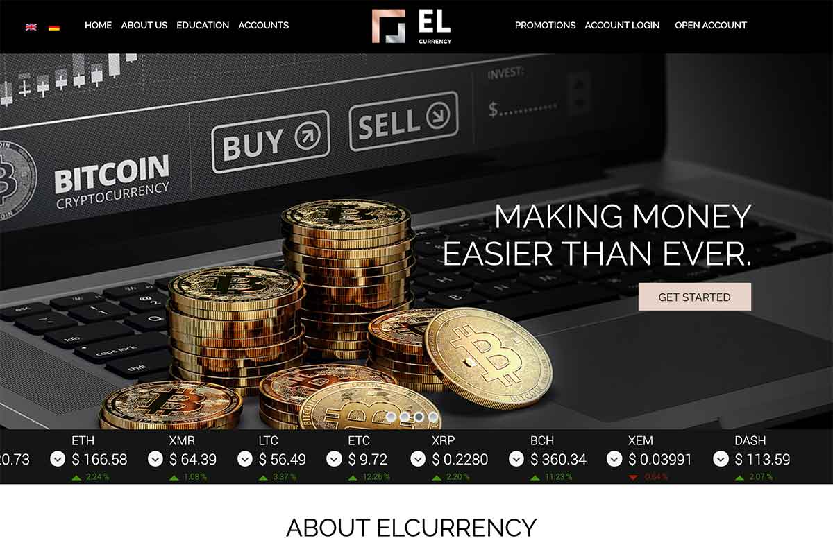 Página web de Elcurrency