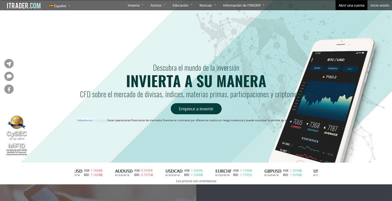 Página web de ITRADER