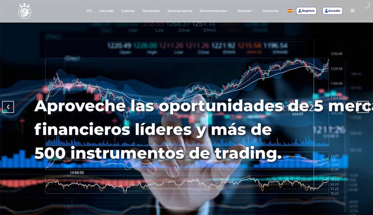 Página web de Imperial Finance Group