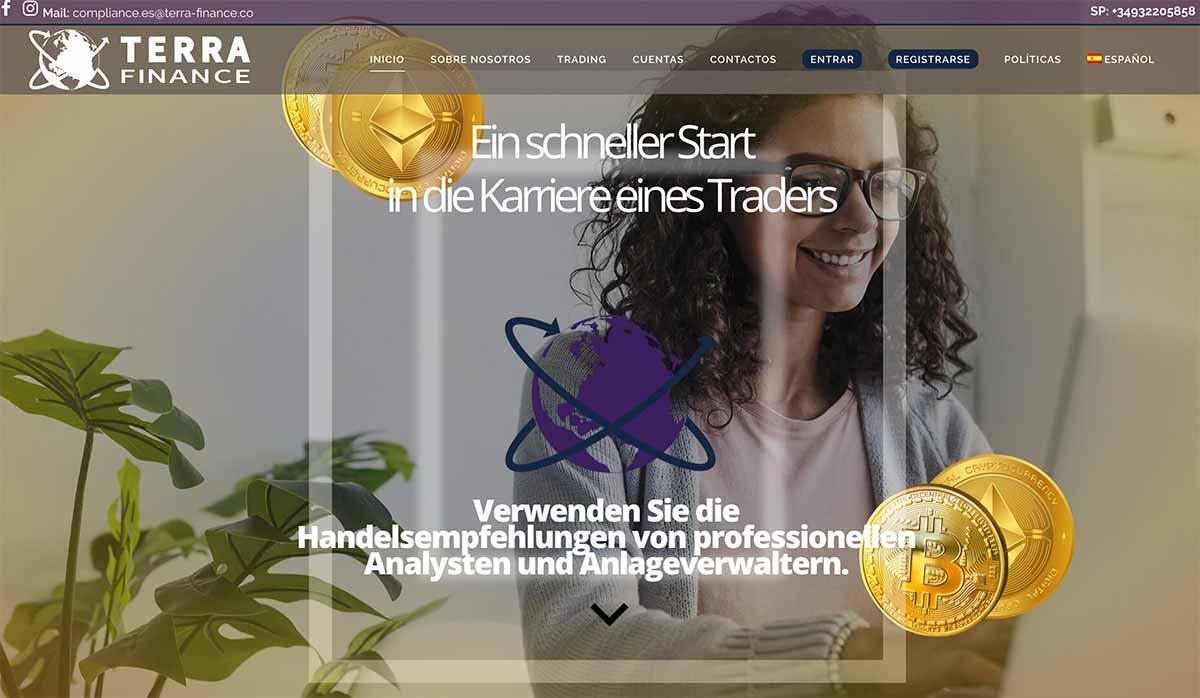 Página web de Terra Finance