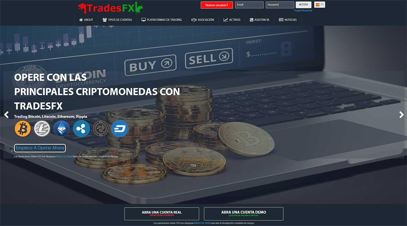 Página web de TradesFX