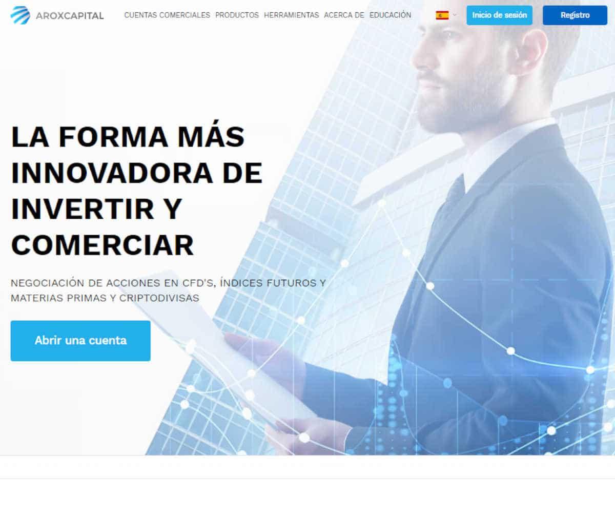 Página web de Arox Capital