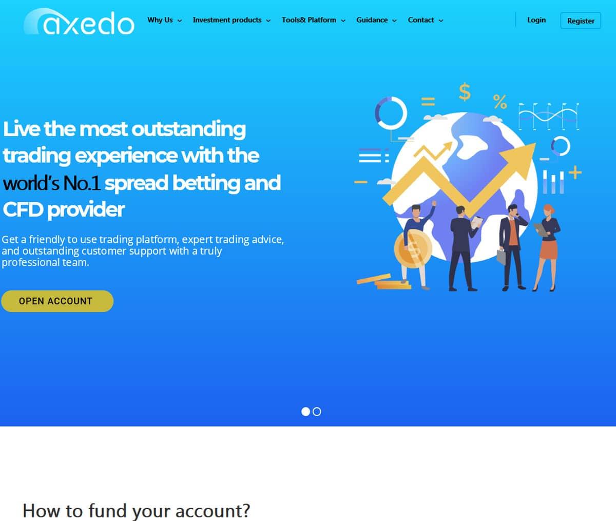 Página web de Axedo