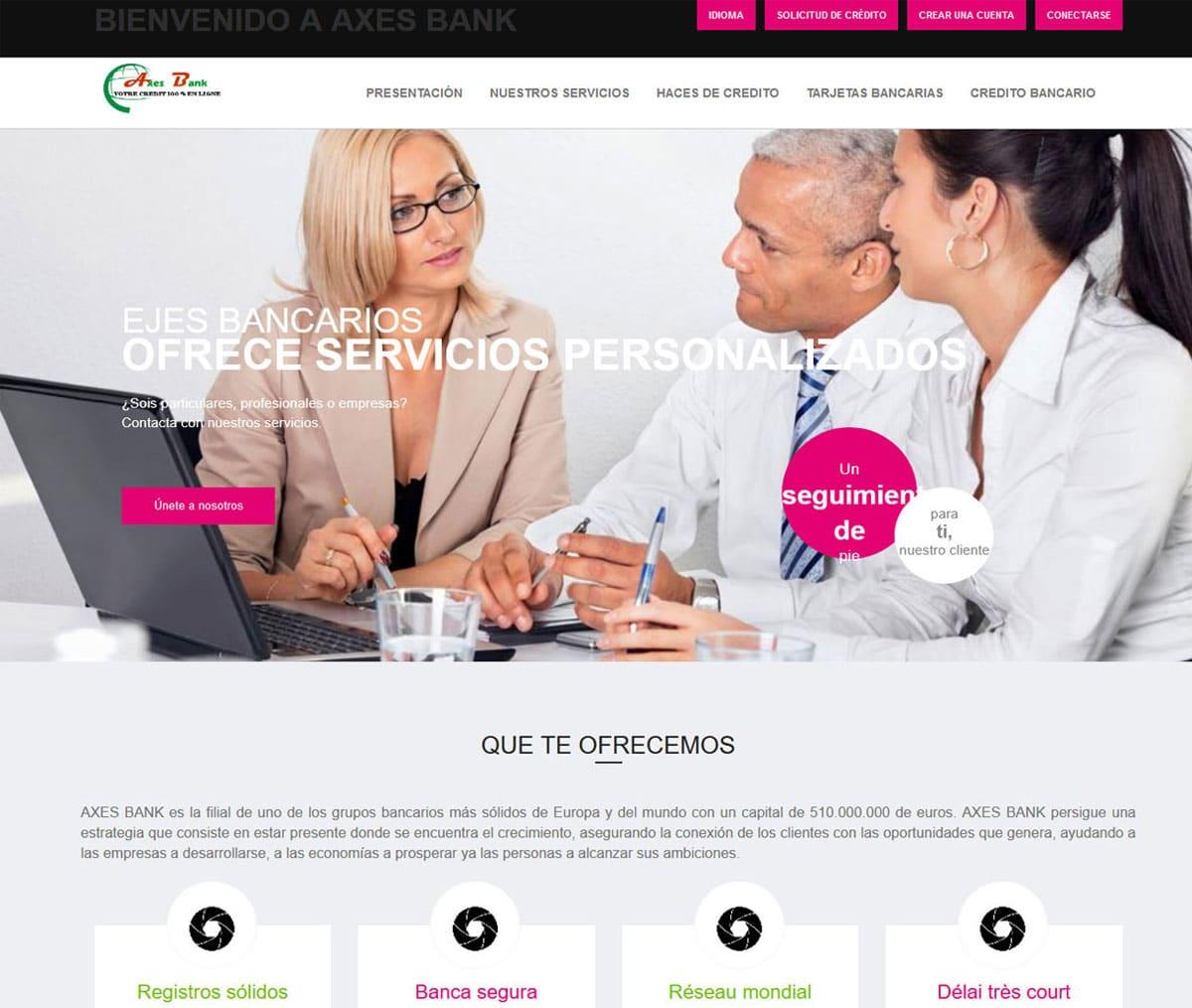 Página web de Axes Bank