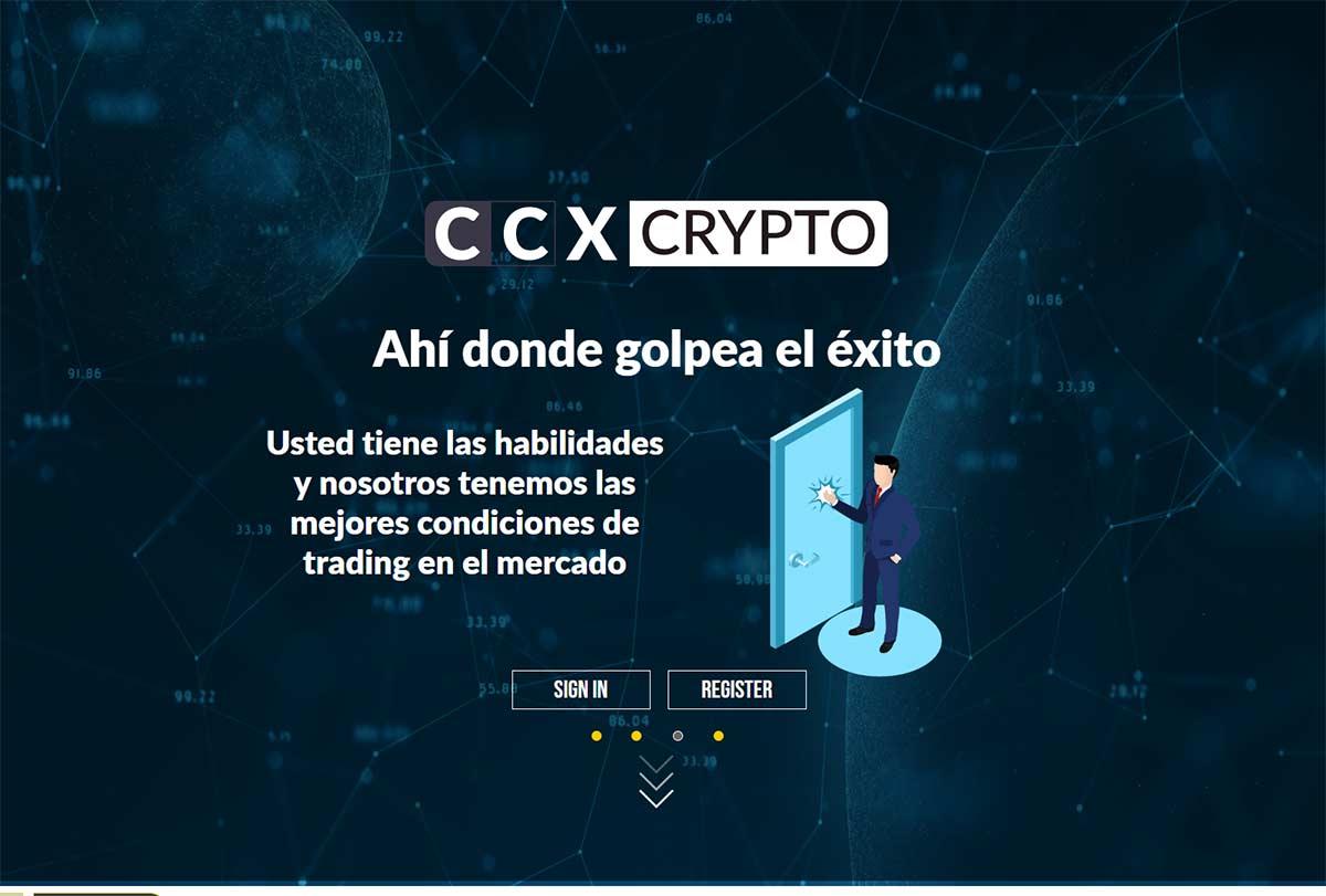 Página web de ccxcrypto