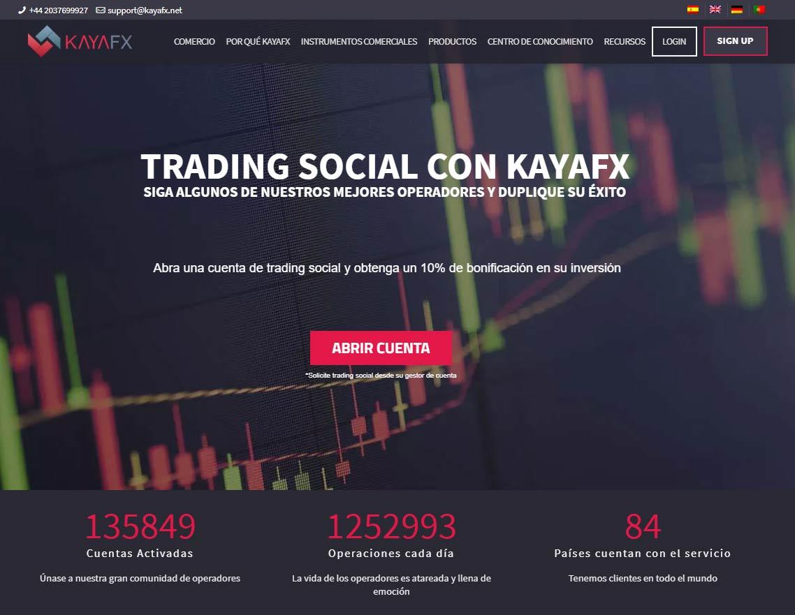 Página web de KayaFX