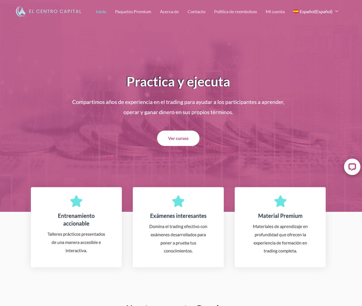 Página web de El Centro Capital
