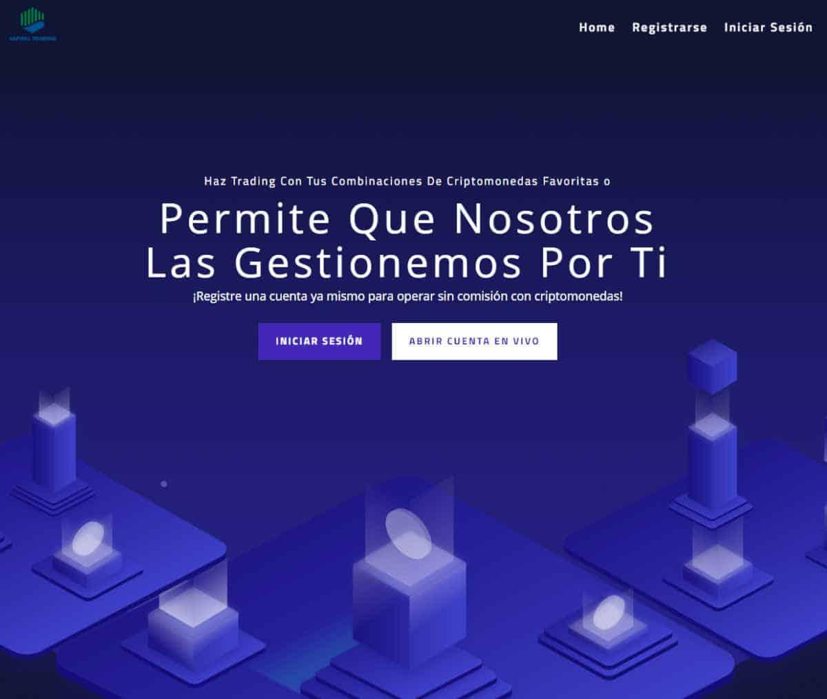 Página web de Capital Trading
