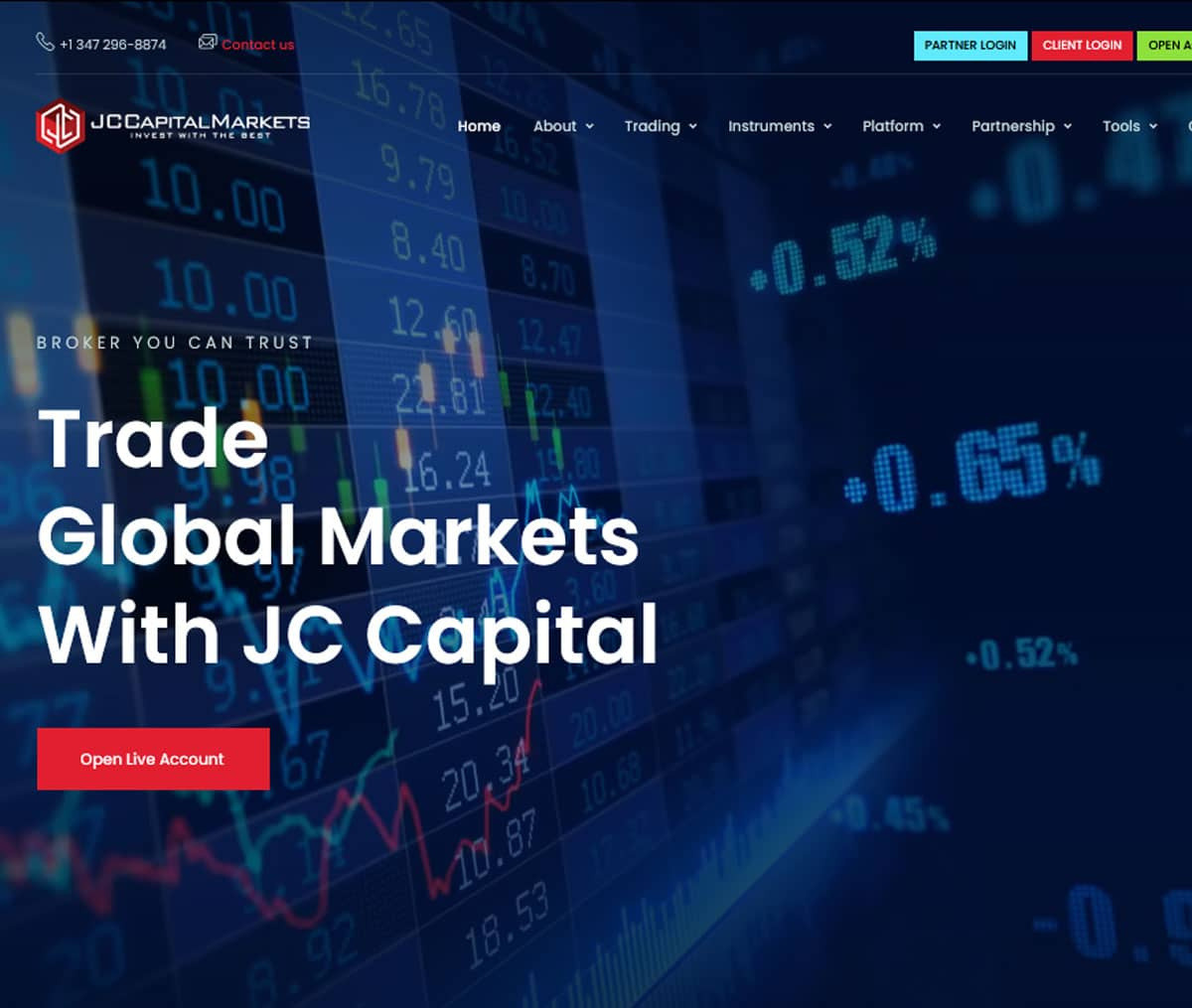 Página web de JC Capital Markets
