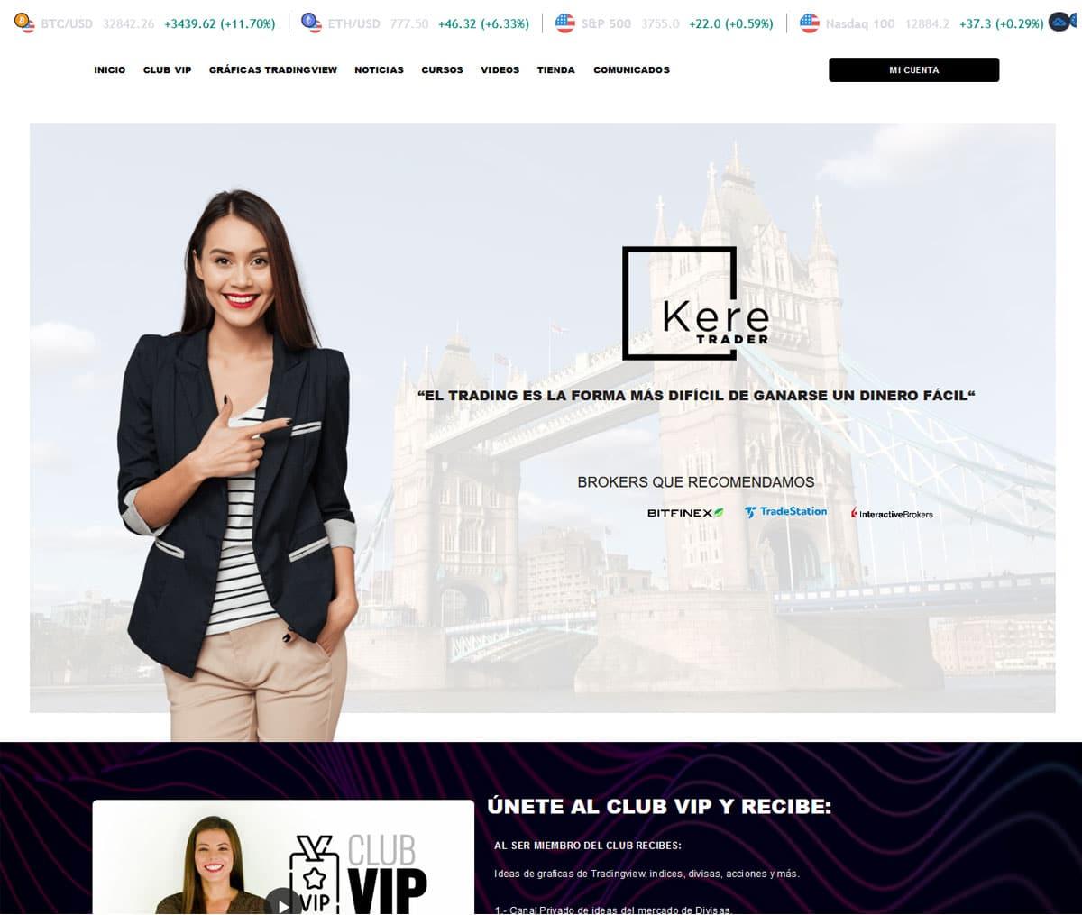 Página web de Kere Trader