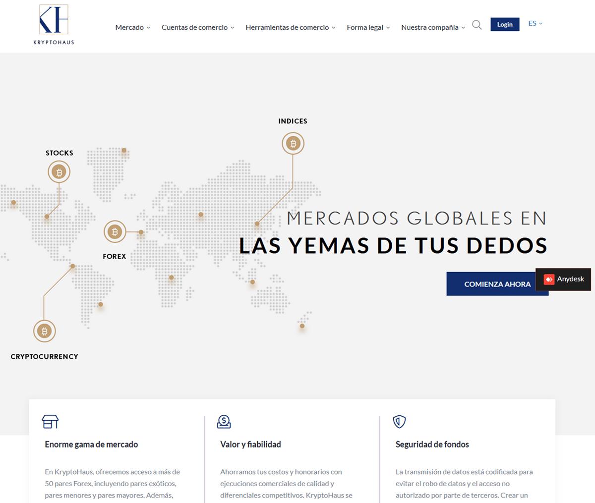 Página web de KryptoHaus