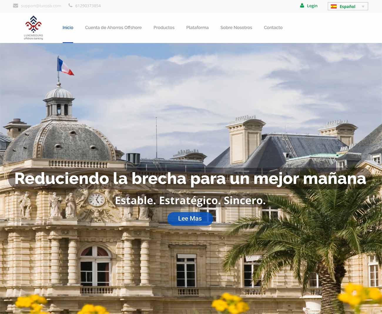 Página web de Luxembourg Off Shore Banking