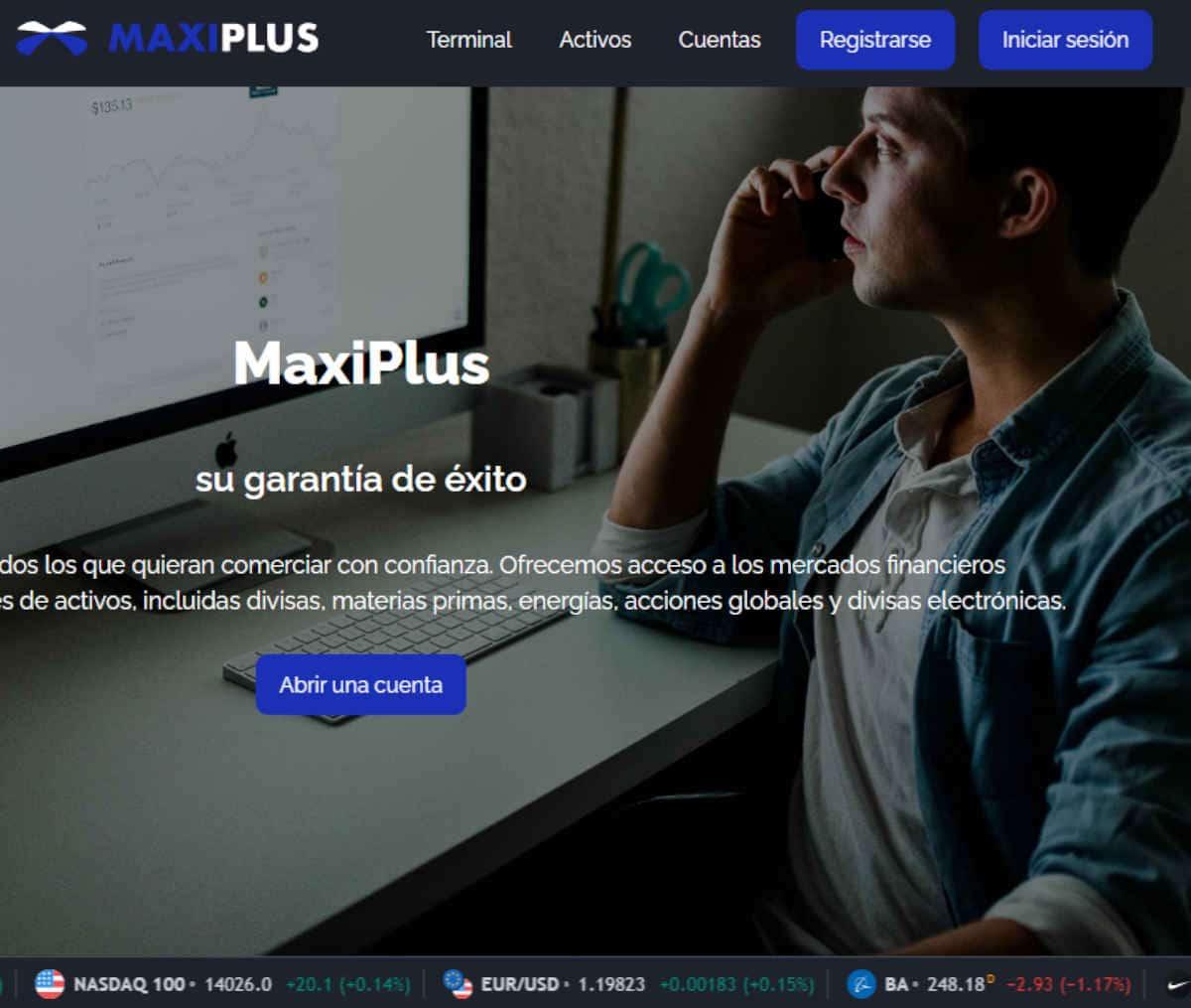 Página web de Maxiplus
