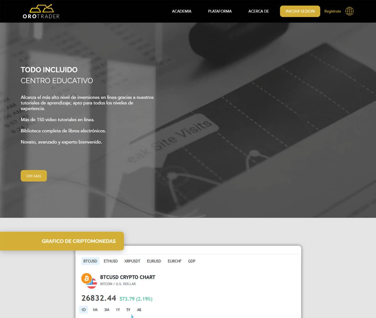 Página web de Orotrader