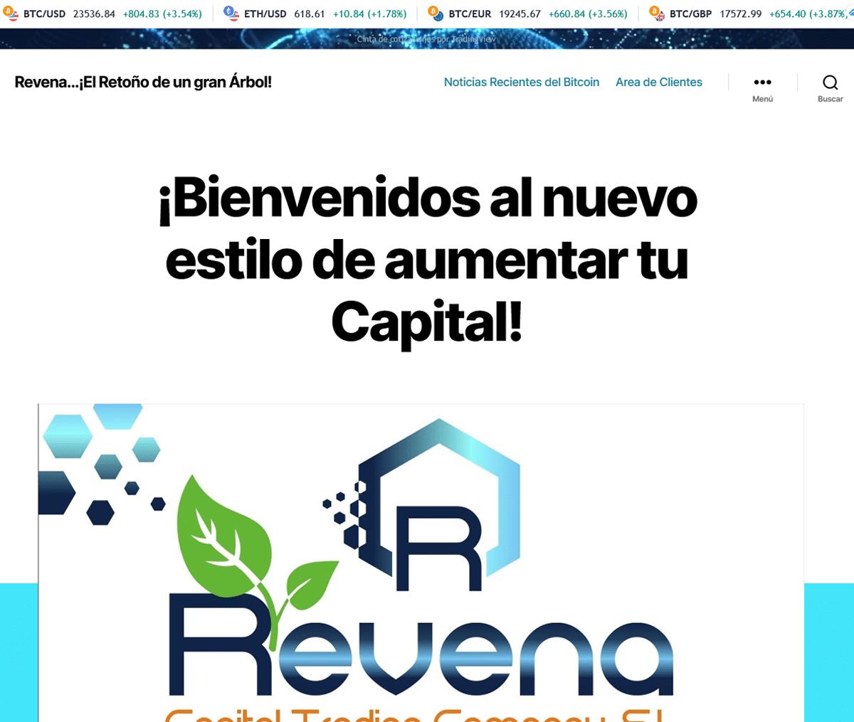 Página web de Revena