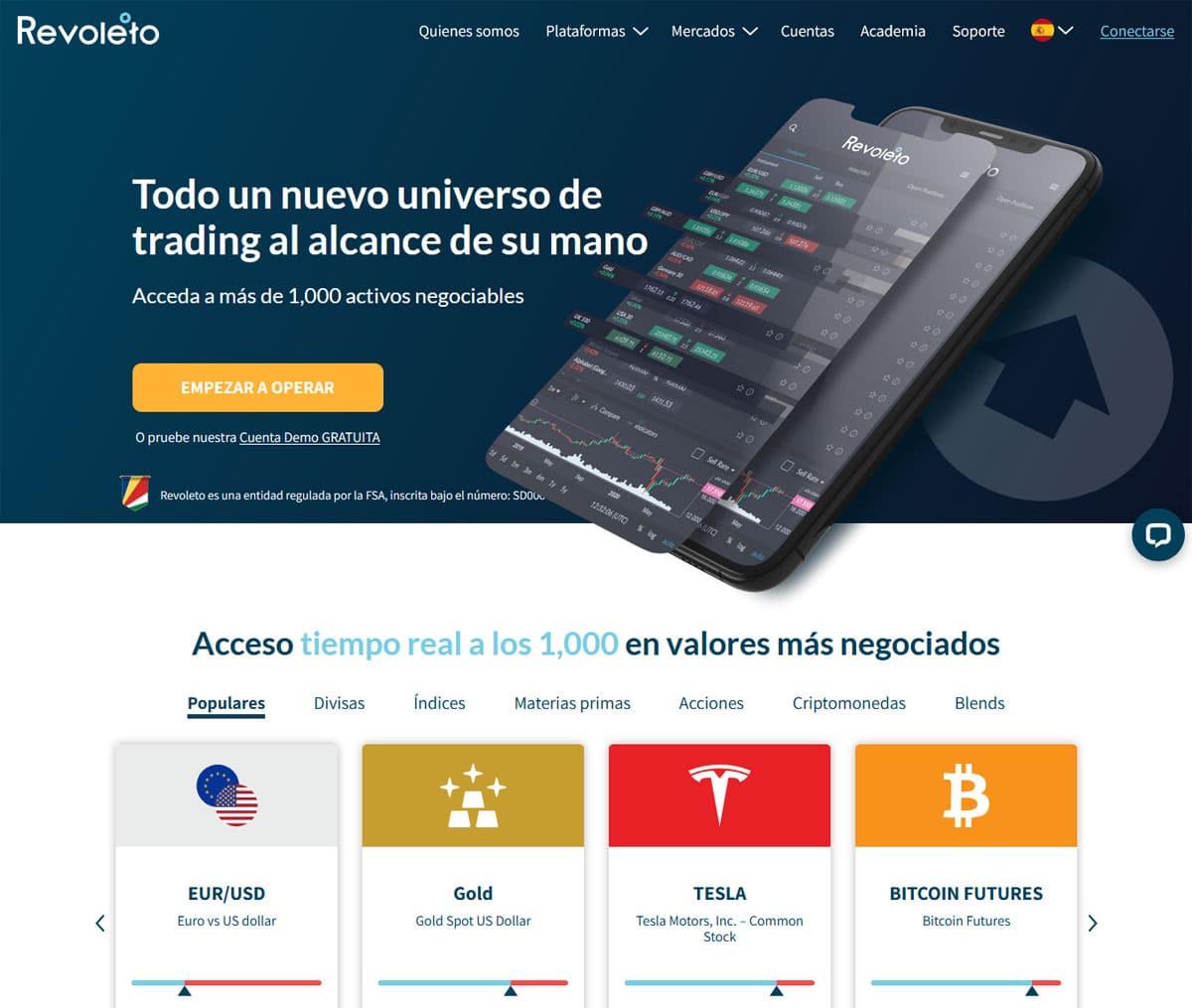 Página web de Revoleto