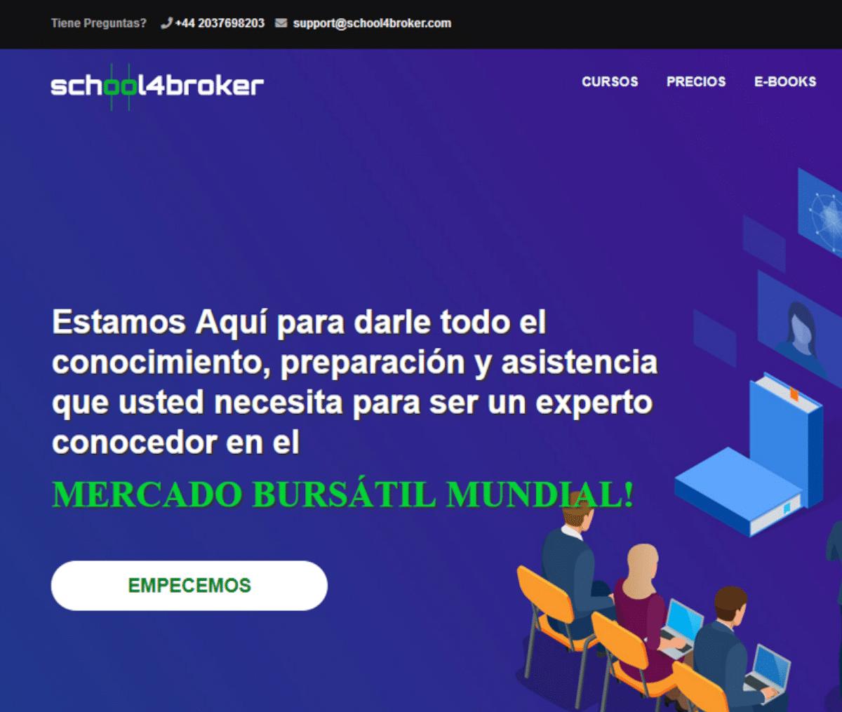 Página web de School4Broker