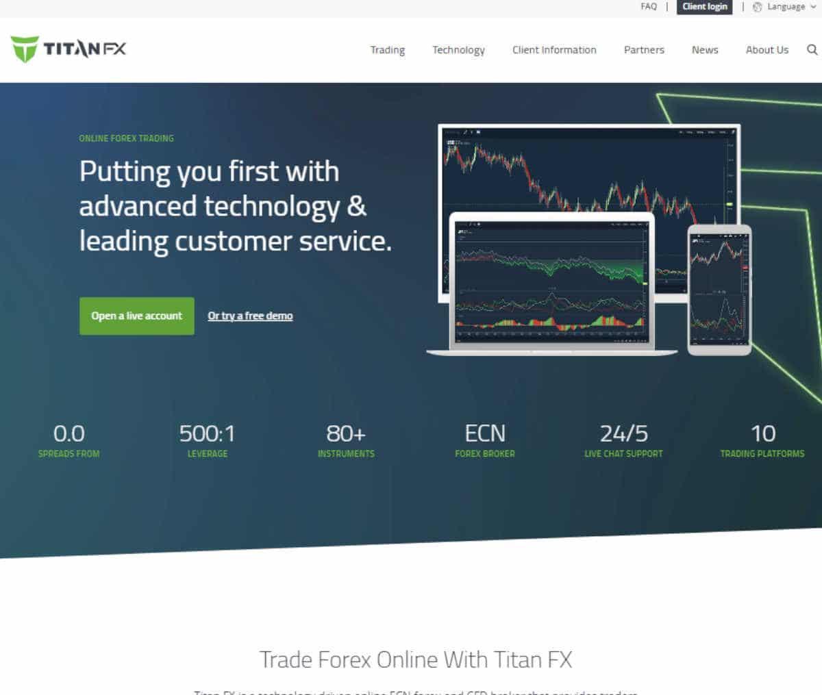 Página web de Titan Fx