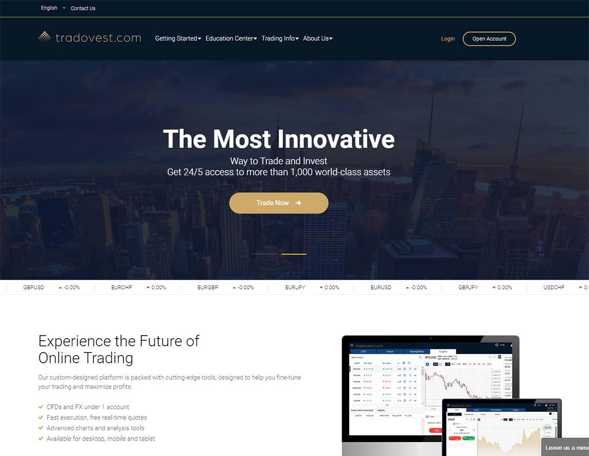 Página web de Tradovest