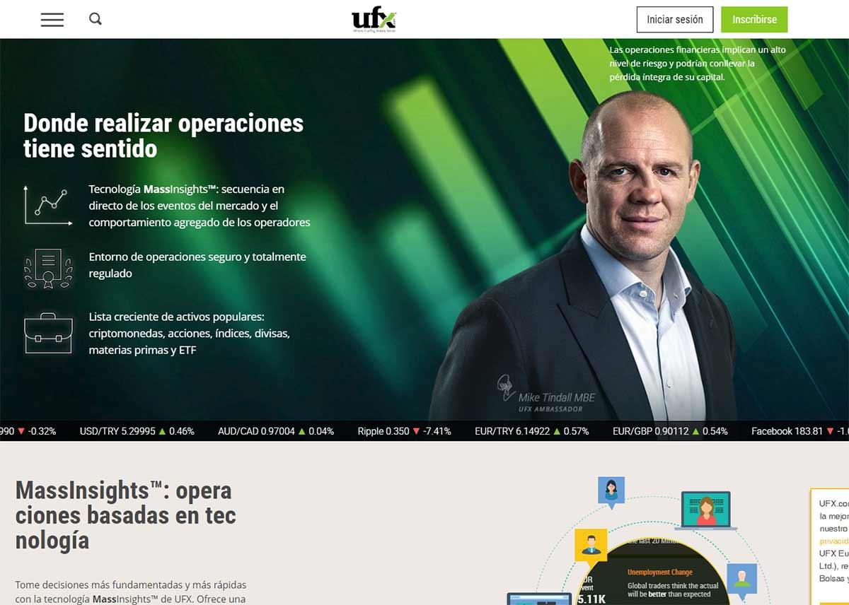 Página web de UFX.com