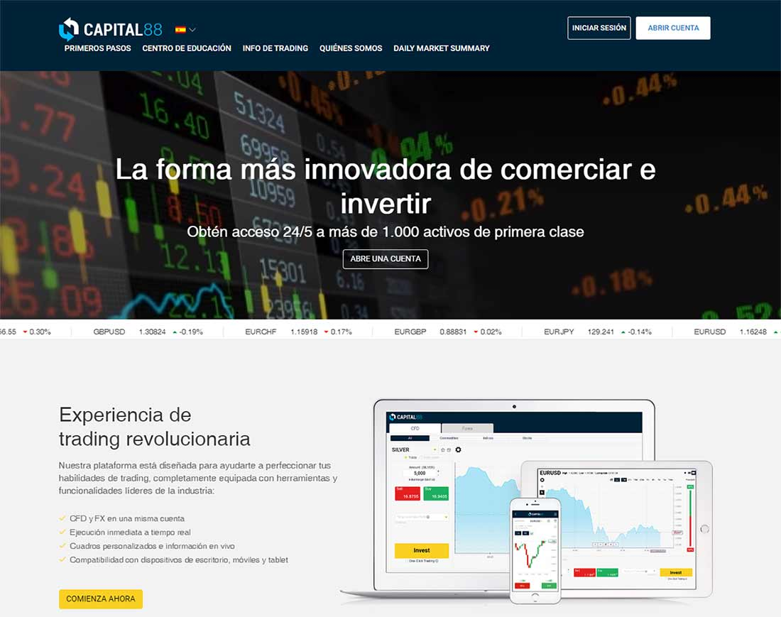 Página web de Capital 88