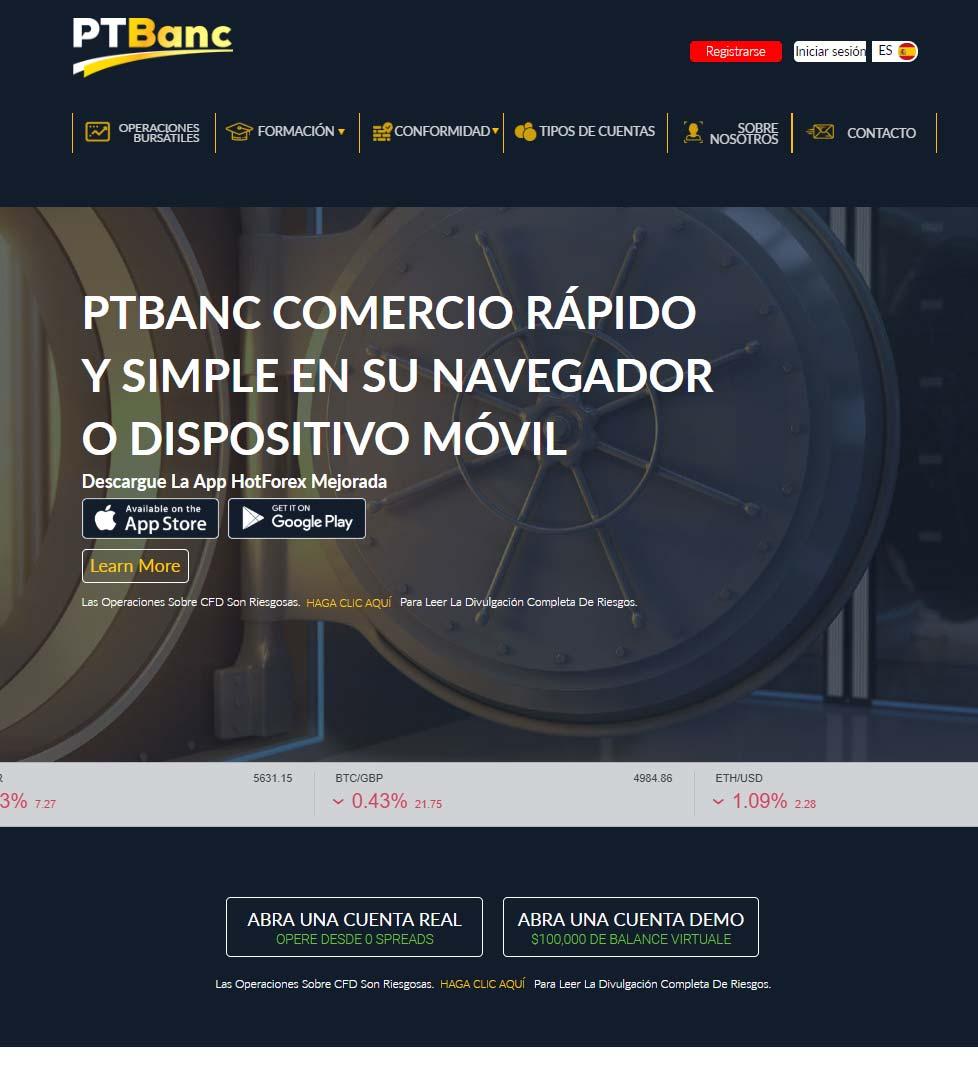 Página web de PtBanc